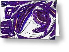 Purple People Eater Greeting Card by Alec Drake