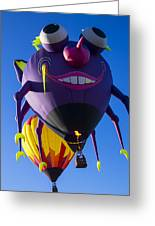 Purple People Eater And Friend Greeting Card by Garry Gay