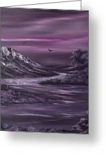 Purple Rain 2 Greeting Card by Cynthia Adams