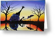 Purple Reflection Of Serengeti Greeting Card by James Dunbar