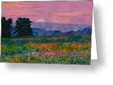 Purple Sunset On The Blue Ridge Greeting Card by Kendall Kessler