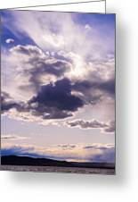 Purple Sunset On The Hudson River Greeting Card by Marianne Campolongo
