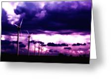 Purple Winds Greeting Card by Todd and candice Dailey