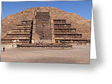 Pyramid Of The Moon Panorama Greeting Card by Sean Griffin
