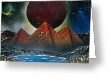 Pyramids 4663 Greeting Card by Greg Moores