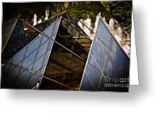 Pyramids Reflected Greeting Card by Tom Gari Gallery-Three-Photography