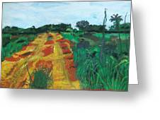 Quagmire To My Village Greeting Card by Mudiama Kammoh