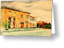 Quantrill's Flea Market - Lawrence Kansas Greeting Card by Mary Ellen Anderson