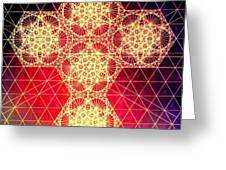 Quantum Cross Hand Drawn Greeting Card by Jason Padgett