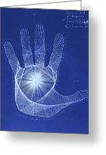 Quantum Hand Through My Eyes Greeting Card by Jason Padgett