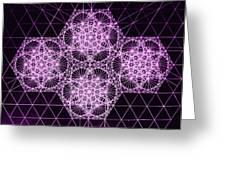Quantum Snowfall Greeting Card by Jason Padgett