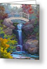 Quarry Hills Waterfall Greeting Card by Carol Smith Myer