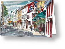 Quebec Old City Canada Greeting Card by Anthony Butera