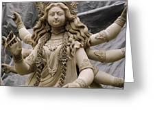 Queen Durga Greeting Card by Shaun Higson