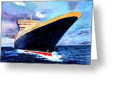 Queen Mary 2 Greeting Card by Donna Walsh