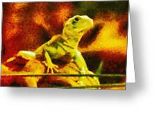 Queen of the Reptiles Greeting Card by Ayse Deniz