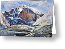 Quick Sketch - Longs Peak Greeting Card by Aaron Spong