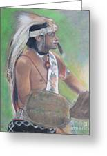 Wampanoag Dancer Greeting Card by Terri Ana Stokes