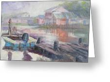 Quiet Morning in East Point Greeting Card by Susan Richardson