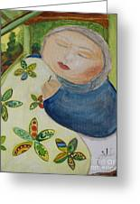 Quiet Quilter Greeting Card by Teresa Hutto
