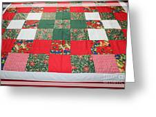 Quilt Christmas Blocks Greeting Card by Barbara Griffin