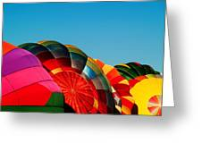 Racing Balloons Greeting Card by Bill Gallagher