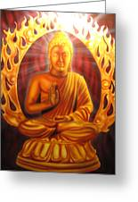 Radiant Buddha Greeting Card by Ethan  Foxx