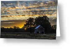 Radiating Sunrise Greeting Card by Amber Kresge