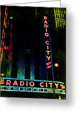 Radio City Grunge Greeting Card by Joann Vitali