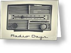 Radio Days Greeting Card by Edward Fielding