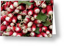 Radish Stack Greeting Card by Art Block Collections