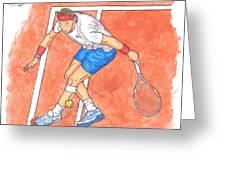 Rafa On Clay Greeting Card by Steven White