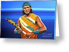 Rafael Nadal Greeting Card by Paul Meijering