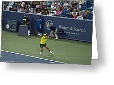 Rafael Nadal Greeting Card by Rexford L Powell