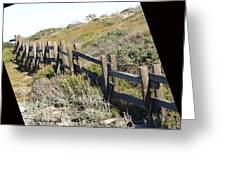 Rail Fence Black Greeting Card by Barbara Snyder