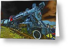 Rail On Greeting Card by Dale Stillman