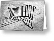 Railing Greeting Card by Larry Butterworth