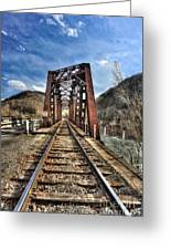 Railroad Bridge Into Thurmond Wv Greeting Card by Dan Friend