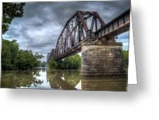 Railroad Bridge Greeting Card by James Barber