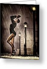 Rain Dance Greeting Card by Bob Orsillo