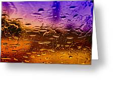 Rain On Windshield Greeting Card by J Riley Johnson