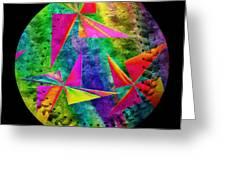 Rainbow Bliss Pinwheels Baseball Square Greeting Card by Andee Design