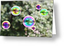 Rainbow Bubbles Greeting Card by Suzi Nelson