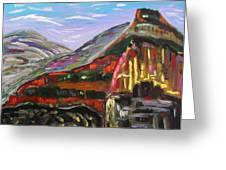 Rainbow Canyons Greeting Card by Mary Carol Williams