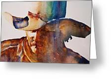 Rainbow Cowboy Greeting Card by Jani Freimann