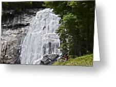Rainbow Falls Greeting Card by Susan Leggett