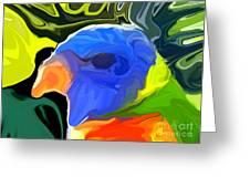 Rainbow Lorikeet Greeting Card by Chris Butler