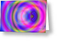 Rainbow Of Rings Greeting Card by Christy Leigh