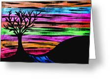 Rainbow Skies Greeting Card by Josephine Ring