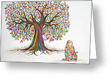 Rainbow Tree Dreams Greeting Card by Nick Gustafson